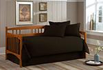 Solid Black Daybed Comforter Set