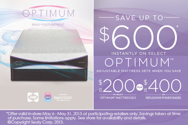 Sealy Optimum Memorial Day Sale