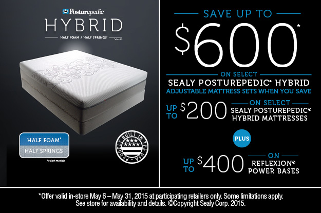 Sealy Posturepedic Memorial Day Sale
