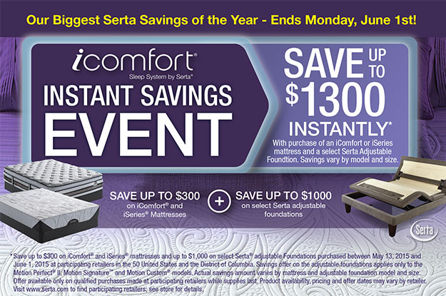Serta Memorial Day Sale