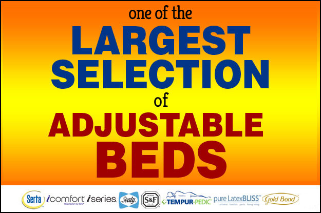 Largest Selection of Adjustable Beds